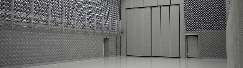 Akoestische ruimte in het ZAL TechCenter, gebruikt voor onderzoek van A320-rompsegmenten © zal.aero